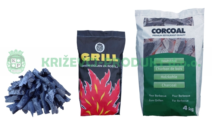 Wood charcoal for barbecue
