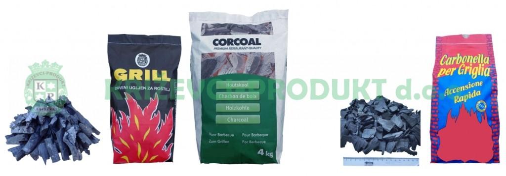 Carbone e Carbonella di legna per la griglia