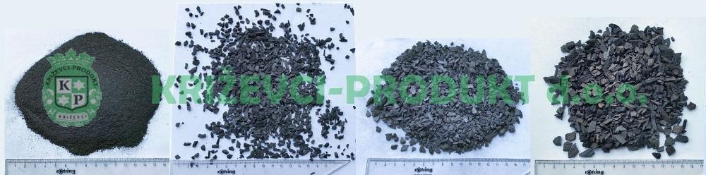 Holzkohle für besondere Anwendungen - Pulver und Granulaten