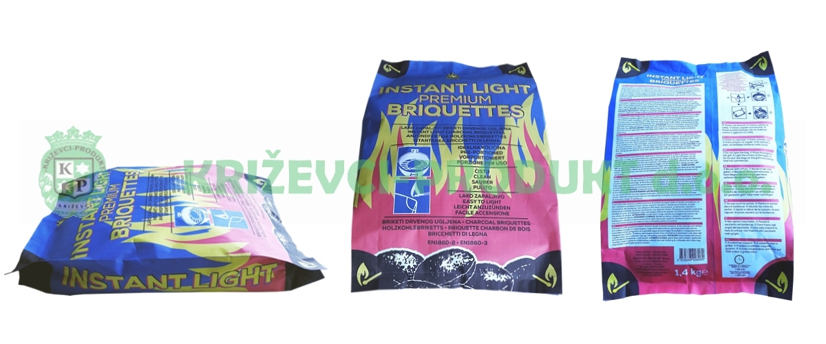 Instant Light BBQ Charcoal briquettes